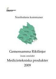 Riktlinjer för Norrbottens kommuner 2009.pdf - Kommunförbundet