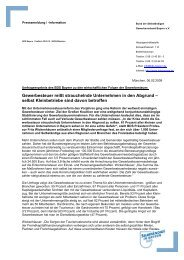 Pressemeldung - Gewerbeverband Bayern eV