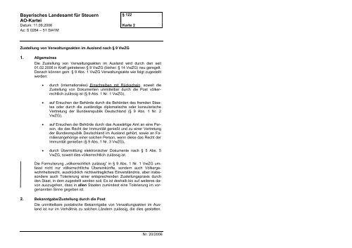 Bayerisches Landesamt Fur Steuern Ao Kartei