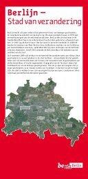 Berlijn wordt als geen andere stad gekenmerkt door een ... - be Berlin