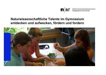 Naturwissenschaftliche Talente im Gymnasium entdecken und ...
