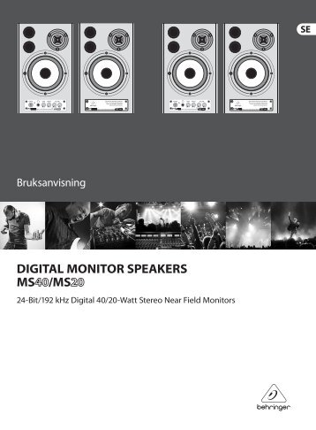 DIGITAL MONITOR SPEAKERS MS40/MS20 - Behringer