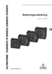 ULTRATONE K3000FX/K1800FX/K900FX/K450FX - Behringer