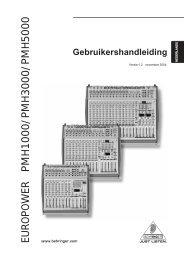 EUROPOWER PMH1000/P M H 3000/P M H 5000 - Behringer