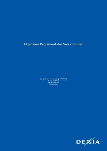 Algemeen Reglement der Verrichtingen (versie geldig ... - Belfius