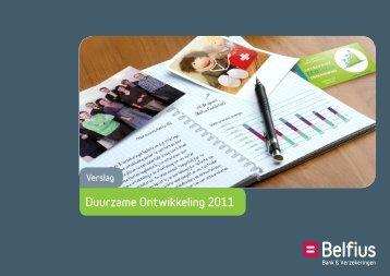 Duurzame Ontwikkeling 2011 - Belfius