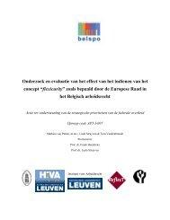 Onderzoek en evaluatie van het effect van het indienen - Federaal ...