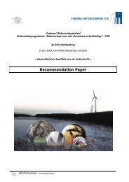 Recommendation Paper - Federaal Wetenschapsbeleid