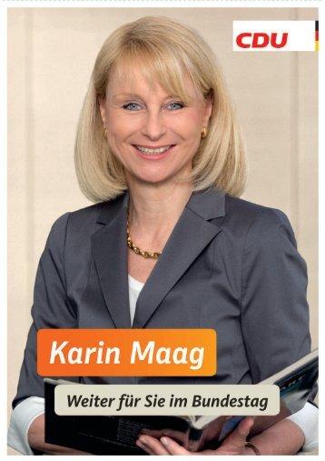 Wahlkampfprospekt Karin Maag