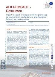 ALIEN IMPACT - Resultaten - Federaal Wetenschapsbeleid