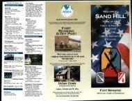 Sand Hill Brochure - Fort Benning