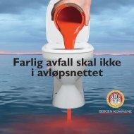 Farlig avfall skal ikke i avløpsnettet - Bergen kommune