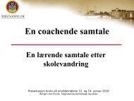 En coachende samtale - Lundberg - Bergen kommune