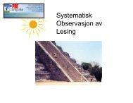 Systematisk Observasjon av Lesing - Bergen kommune