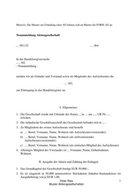 Muster F 374r Aktiengesellschaftneu 1 Notarkammer Berlin