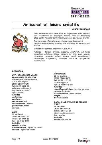 Artisanat et loisirs créatifs - Besançon
