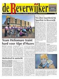 Team Heliomare traint hard voor Alpe d'Huzes - De Beverwijker