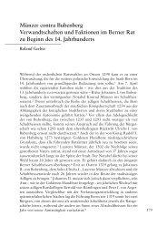 Münzer contra Bubenberg - Berner Zeitschrift für Geschichte