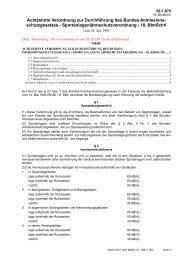Achtzehnte Verordnung zur Durchführung des Bundes ...