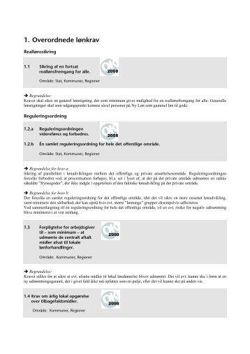 1. Overordnede lønkrav - Bibliotekarforbundet