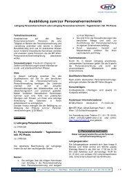 Ausfuehrliche Informationen - BFI Wien