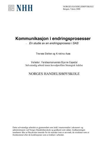 Kommunikasjon i endringsprosesser - BI Norwegian Business School