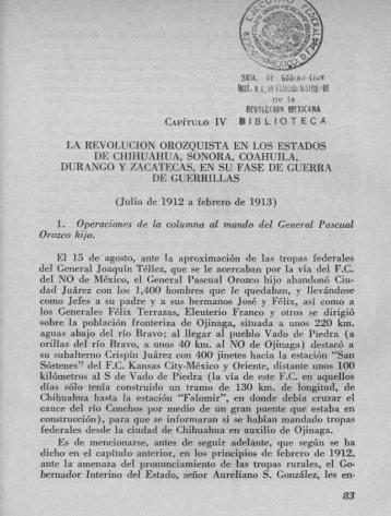 Capítulo IV. La Revolución Zapatista. Tercera parte - Bicentenario