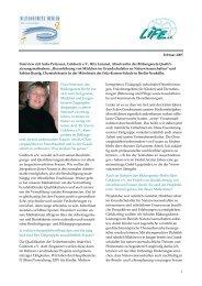 Februar 2005 Interview mit Anke Peterssen, Goldnetz e.V., Rita ...