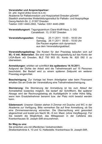 Veranstalter und Ansprechpartner: Dr. phil. Ingrid-Ulrike Grom M.A. ...