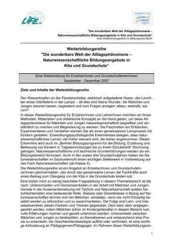Die wunderbare Welt der Alltagsphänomene ... - Bildungsnetz Berlin