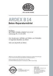 ARDEX B14 Beton-Reparaturmörtel