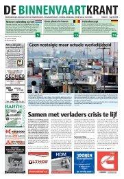 Samen met verladers crisis te lijf - De Binnenvaartkrant