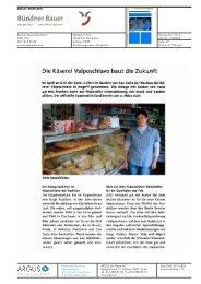 Die Käserei Valposchiavo baut die Zukunft - Bioaktuell.ch