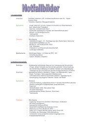 Notfälle-Lernskript - Biochemie - Nachhilfe