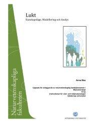 Lukt – Kunskapsläge, Modellering och Analys - Institutionen för ...