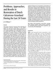 Restoration of Dutch Calcareous Grasslands