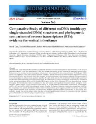 Comparative Study of different msDNA (multicopy ... - Bioinformation