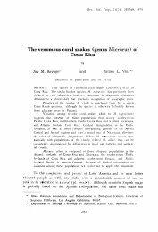 The venomous coral snakes (genus Micrurus) of Costa Rica