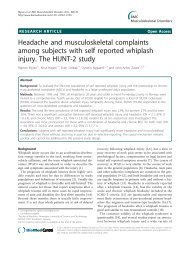 Headache and musculoskeletal complaints among ... - BioMed Central