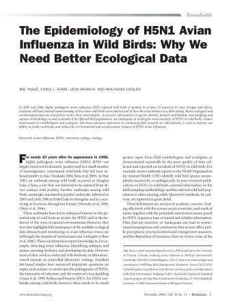 Yasue et al., BioScience 56 - BirdLife International