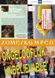 Bisdom Roermond Afd. Jeugd en Jongeren Postbus 75 6040 AB ...