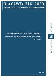 kaft blauwdruk 2020.indd - Bisdom Roermond