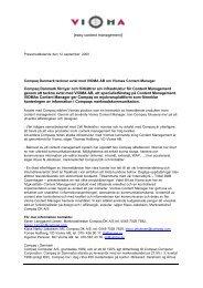 [easy content management] Compaq Danmark förnyar och förbättrar ...