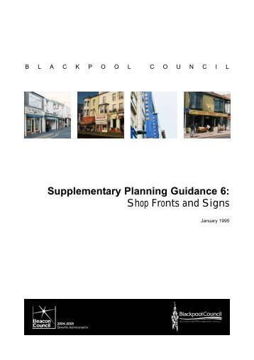Supplementary Planning Guidance 6: Shop Fronts and Signs