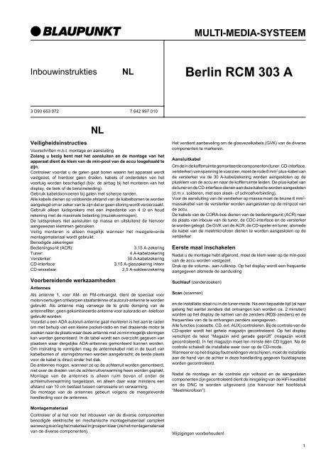 Berlin RCM 303 A - Blaupunkt