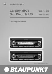 Calgary MP35 San Diego MP35 - Blaupunkt