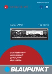 Hamburg MP57 Car Radio CD MP3 - Blaupunkt