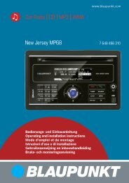 Car Radio CD MP3 WMA New Jersey MP68 - Blaupunkt