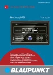 Car Radio CD MP3 WMA New Jersey MP68 - Blaupunkt