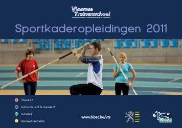 Sportkaderopleidingen 2011 - Bloso